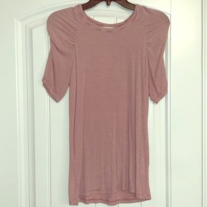 """Hip """"bunched sleeves"""" top size large"""